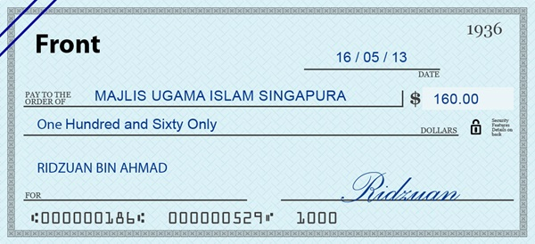 td personal cheque how to write